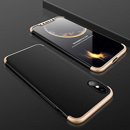 JINRU IPhone XCase, Gommage Coutures Trois-en-Un [Slim Thin], Compatible avec iPhone X/XS, XR, XS Max,Gold,X/XS