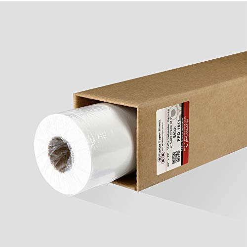 Inkjet Canvas Roll for Wide Format Inkjet Printing, 24' x 75' roll, 100% Matte Polyester Canvas by Plotter Paper Direct