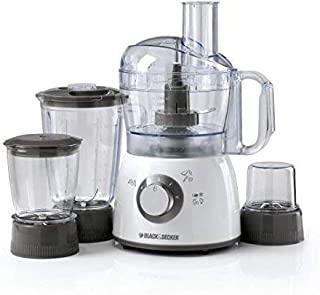 Black & Decker 400W Food Processor with Blender, Mincer and Grinder (Model: FX400), White