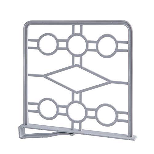 Juego de 4 separadores de estantes prácticos para el armario – Divisores de estantes de armario, organizador práctico de armario, sistema de estanterías sin taladrar