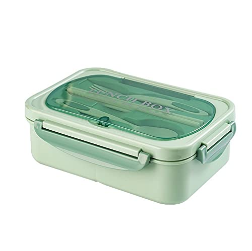 Nenka Lunchbox mit Besteck,Edelstahl Isolierbox,Kann zerlegt werden Einfach zu säubern,Versiegelt und auslaufsicher Spülmaschinenfest Brotbox,Bentobox für Schule/Arbeit/Picknick Reisen (Grün)