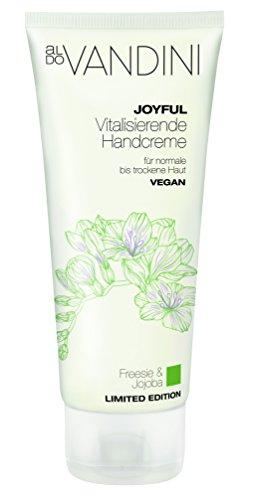 aldo VANDINI JOYFUL Vitalisierende Handcreme, Handpflege, Handlotion, parabenfrei, vegan, 2er Pack(2 x 100 ml)