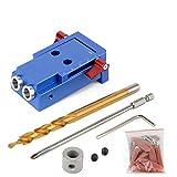 Abkendg Sistema de Bolsillo Kit de ebanistería y 9,5 mm HSS Paso Broca for la Madera Conjunto de Herramientas (Size : Set A)