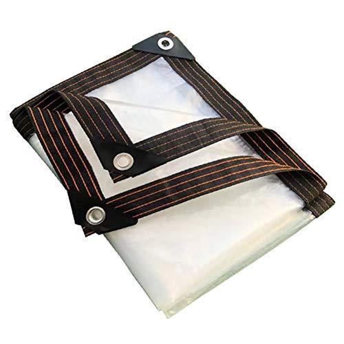 Lonas Transparentes Lona Transparente Impermeable De Alta Resistencia Con Ojales, Cubierta De Lona Antienvejecimiento, Resistente Al Desgarro, Para Invernadero De Plantas, Techo (Size:2×6m/ 6.5×20ft)