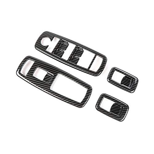 CLEIO 4pcs / Set Decoration Tort Bezel Funda Ajuste para el Cargador Dodge 2011+ Panel de elevación Trim Tip Venta DE Venta