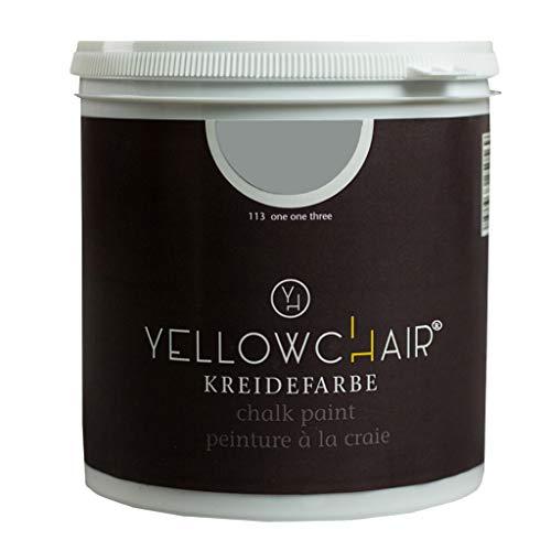 Kreidefarbe yellowchair 1 Liter ÖKO für Wände und Möbel Shabby Chic Vintage Look (No. 113 eisgrau)