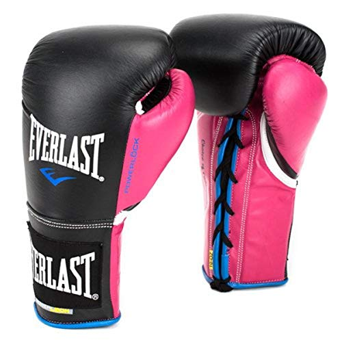 Everlast PowerLock Pro Fight Gloves 8oz blk/Pnk PowerLock Pro Fight Gloves