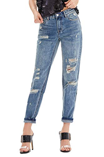 Nicasia Women's Boyfriend Jeans High Waisted Ripped Denim Pants Mom Jeans New Hampshire