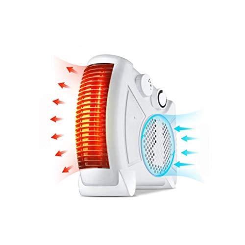 NIUFG 1000W Mini Calentador eléctrico de Bolsillo, Calentador portátil para el hogar y la Oficina, Ventilador de Invierno, Calentador de Aire rápido, Estufa de diésel (Color : White)