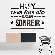 Vinilos Decorativos Hoy ES Un Buen Dia para Sonreir Spanish Fre Quotes Wall Vinyl Sticker Inspiration Lettering Murals 57x43cm