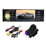 GOFORJUMP 4.1 Pulgadas 1 DIN Car Radio USB AUX FM Station Bluetooth con cámara de visión Trasera Control Remoto Audio estéreo