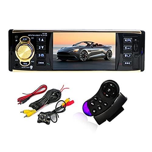 GOFORJUMP 4019B 4.1 Pouces 1 Din Auto Radio autoradio Audio stéréo autoradio USB AUX Station FM Bluetooth avec Vue arrière caméra télécommande