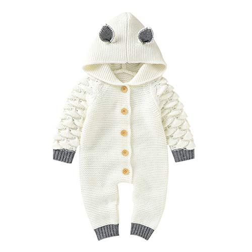 Best Review Of Baby Boy Rompers Cute Lovely Newborn Baby Girls Boys Winter Warm Knit Outwear Sweater...