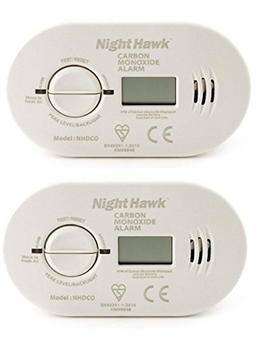 Kidde 5DCO 2 Alarmas de monóxido de carbono con pilas, con pantalla digital