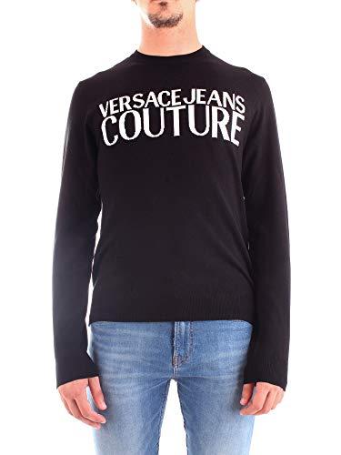 Versace Jeans UUPM05 INTARISIA Logo Pullover & Strickjacken Herren Schwarz - XL - Pullover