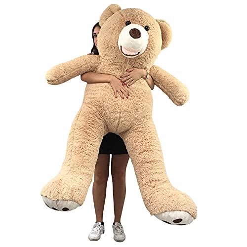 Bananair Orsacchiotto XXL Gigante (da 130 cm a 340 cm) Orso de Peluche Teddy Bear Peluche Morbida, Perfetto per Compleanno, Natale, Giocattolo (160 cm)