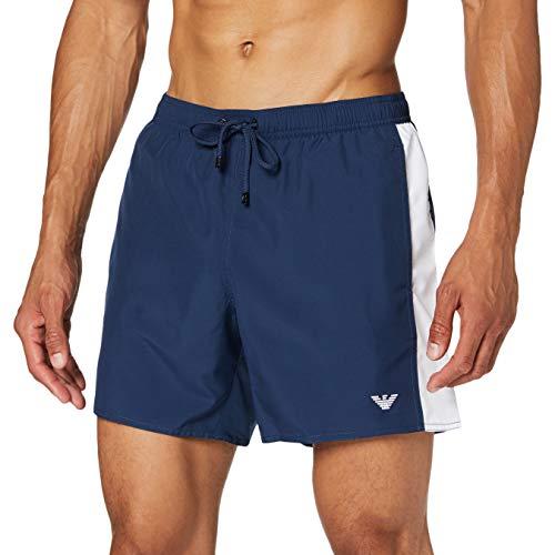 Emporio Armani Swimwear Herren Boxer Beachwear Cruise Badehose, Blau (Blu Navy 06935), XX-Large (Herstellergröße: 56)