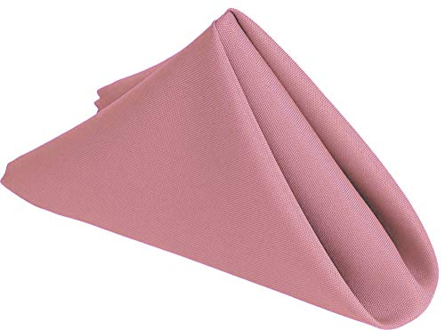 Westlane Linens 20 Inch Cloth Napkins 6 Piece 100% Polyester, 4 side Hemmed Edges Table Napkin for Christmas Party Home Dinning Hotel Banquet, Lightweight & Machine Washable (Pink, 6)