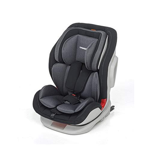 Foppapedretti Seggiolino Auto Tourist Gruppo 1,2,3 (9-36 Kg) per bambini da 9 Mesi a 12 Anni circa, Black, Collezione 2021
