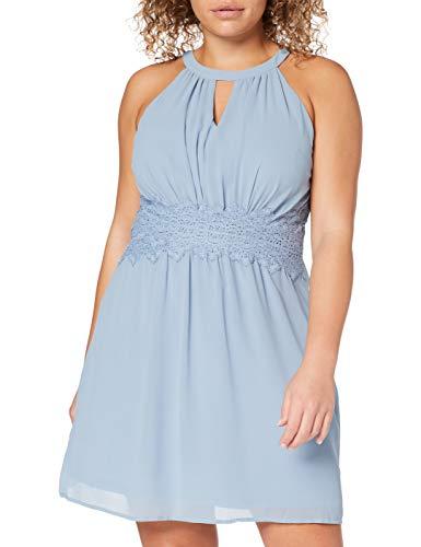Vila Female Minikleid Neckholder 42Ashley Blue