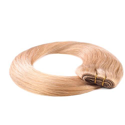 Hair2Heart Extensiones de Cortina Cosida Pelo Natural - 40cm - Liso, Color 18 Castaños Rubio