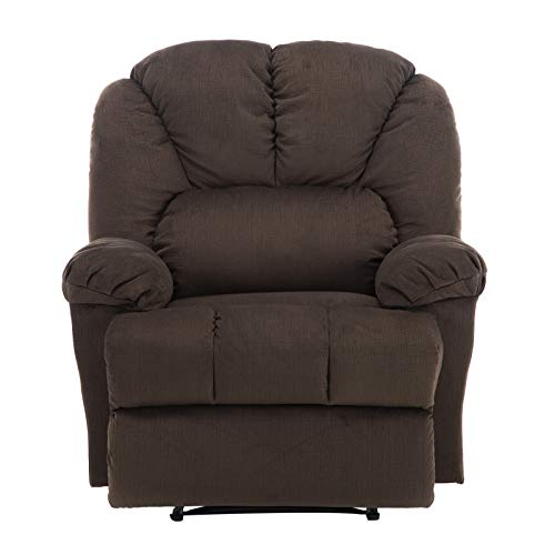 zsjhtc Modern Fabric Recliner Chair,Comfortable Velvet Lounge Bedroom Living Room Recliner Chair Home Single Sofa Home Theater Seating Brown