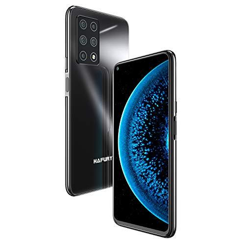 Cinque Fotocamera 8GB+256GB HAFURY GT20 Smartphone 2021 Androdi 10 6.4 Pollici 4200mAh Impronta Digitale dual SIM NFC Face ID 4G Cellulare Nero