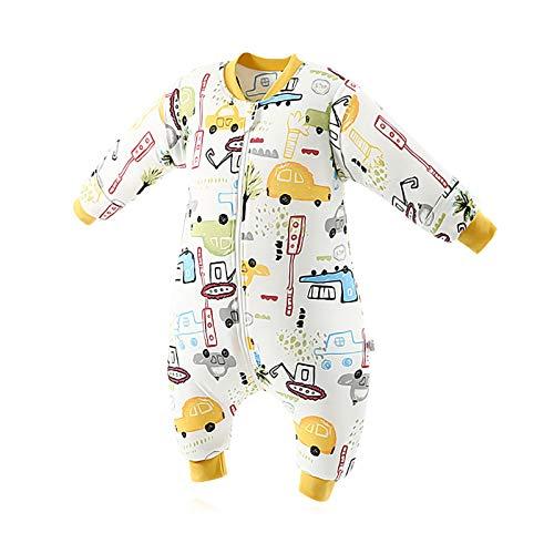 SONARIN Saco de dormir para bebés con mangas extraíbles, 3.5 Tog,de algodón orgánico, diferentes tamaños, para Niños Niñas 6 meses a 6 años