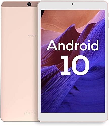 Tablet 8 Pollici, Android 10.0, Processore Kingpad SA8 Vastking Octa-Core, 3 GB di RAM, 32 GB Spazio di Archiviazione, IPS 1920x1200, Wi-Fi 5G, GPS, Fotocamera da 13MP, Oro Rosa