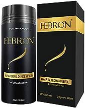 FEBRON Hair Fibers For Thinning Hair DARK BROWN Giant 30G For Women & Men Hair Loss Concealer Hair Powder Volumizing Based 100% Undetectable & Natural - Bold Spots Filler