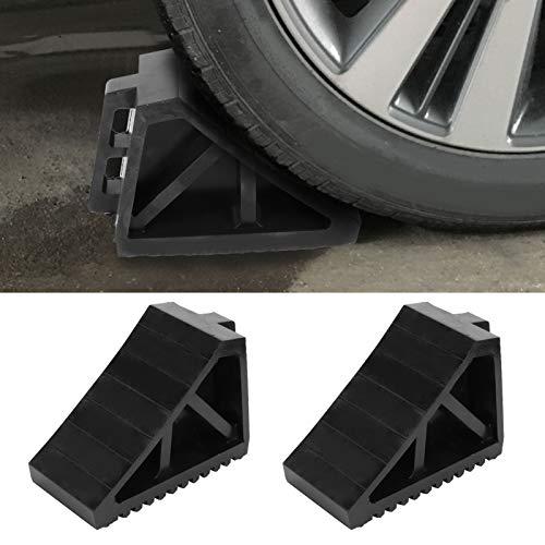 KAKAKE Bloque de Parada de neumáticos, calzo de Rueda Material de Goma fácil de Usar para Cargar/descargar mercancías para remolques de automóviles, Camiones