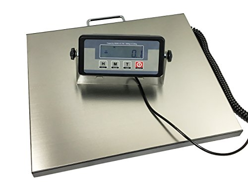 Angel USA 400 Pound Capacity Digital 16.75 X 13.75 Inches Stainless Steel Platform Postal Shipping Scale, for Busniess Office Home Warehouse Package Lugggage