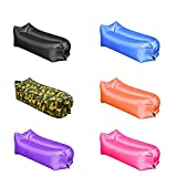 3 Pack Inflatable Lounger Wind Breezy Pouch Couch Windbed Air Chair Sofa Bed Lazy Bag Been Sleeping Sand Beach Laybag Blow Up Original Fast Hangout Outdoor Hammock Lounge Adults Kids(Random Color)