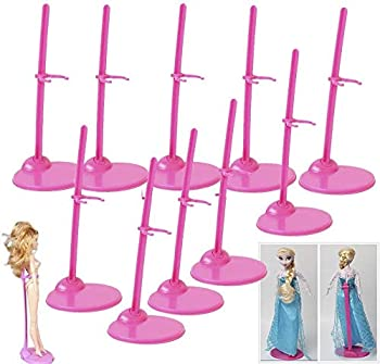 StillCool Doll Stand Box of 10 - Doll Display Holder for 11  to 13  Dolls and Action Figures Doll Accessories