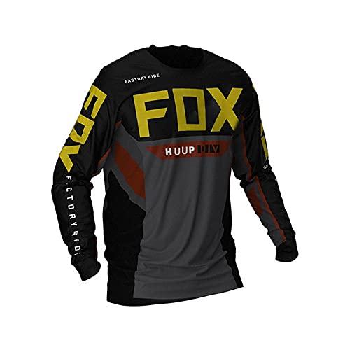 2021 Downhill Jerseys Fox Mountain Bike MTB Shirts Offroad Dh Motorcycle Jersey Motocross Sportwear Clothing Fox Bike-5Xl