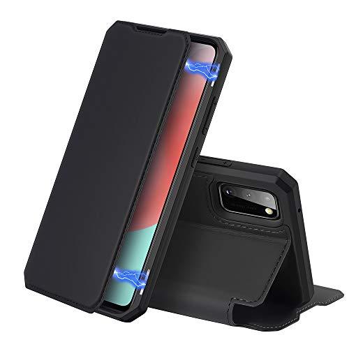 DUX DUCIS Hülle für Samsung Galaxy A41, Premium Leder Magnetic Closure Flip Schutzhülle handyhülle für Samsung Galaxy A41 Tasche (Schwarz)