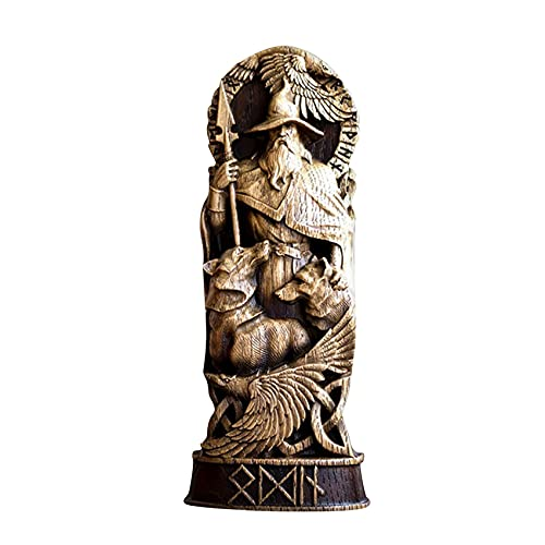 Uniquk Estatuas de Dioses NóRdicos, Panteones Escandinavos, Estatuas de Resina Decorativas de Dioses NóRdicos, ArtesaníA, Estatuas Decorativas para el Hogar, Sombrero