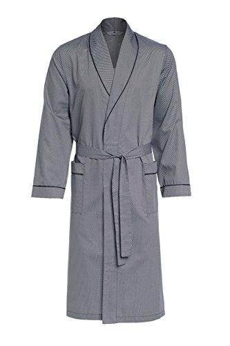 Revise Guido RE-504 - Elegante bata para hombre (100% algodón) plata XXX-Large