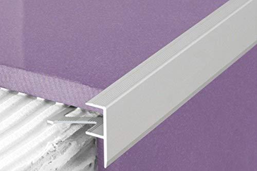 1 Stück | Rand Fliesenleiste | Alu | rostfrei | Effector | 1000x23x8mm | A85 | silber