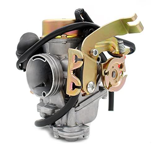 para Runtong CVK 32MM carburador Carb para K&eihin Motocicleta de Repuesto para Todos los Scooters con S&Cooter para GY6 150-250CC Tank 260 Carburador