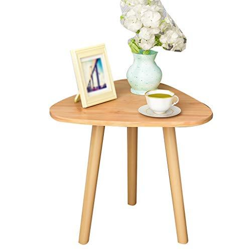 Table family CSQ Holz-Dreieckige Tisch, Ausstellungshalle Shop Display Ständer Wohnzimmer-Sofa Beistelltisch Größe: Durchmesser 35-60CM Blumenständer (Color : B, Size : 60 * 50CM)