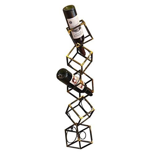 CAIJINJIN estante del vino Vino Titular de la vendimia Bastidores pared del metal de barras  Botella de vino Holder   flotantes estantes de la pared del vino del estante del organizador del almacenaje
