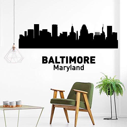 ZZLLL Pegatina de Pared clásica de Baltimore Maryland, PVC, extraíble, habitación para niños, Sala de Estar, decoración del hogar, Accesorios de decoración, Mural 28x58cm