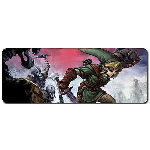 IGZNB Mauspad Zelda-Legende Geschwindigkeits-Gaming-Mauspad  900 x 400mm Größe  XXL Mousepad  3 mm Dicke Basis  Perfekte Präzision und Geschwindigkeit, O