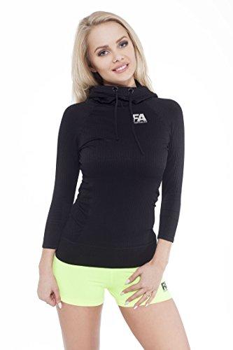 FA Sportswear Hoodie Woman Superstar Black - S - Pullover - TRAININGSSHIRT - Kapuzenpulli