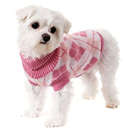 UrbanPup Pink Argyle Sweater extra-Small 20cm