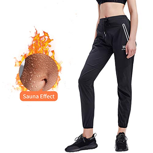 HOTSUIT Sauna Pant Women Weight Loss Boxing Gym Workout Durable Sweat Suit Black S