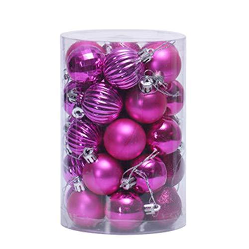 QXMAOYI Christmas Ball Ornaments 34ct Christmas Ball Ornaments Shatterproof Christmas Ornaments Set Decorations for Xmas Tree Balls 40mm/1.57' (1.57'', Gold)