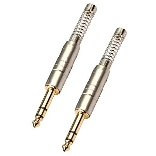 Milisten 2Pcs Stereo-Stecker 6 35 Mm mit Federstecker Audio-Stecker für Kopfhörer