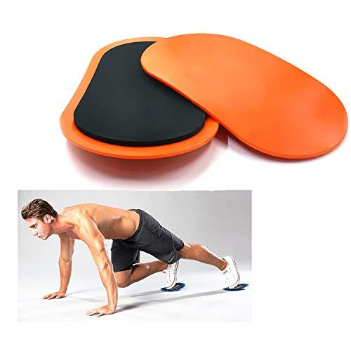 Metalball Core Sliders und Gliding Disc Fitness Training Reibungsloser Einsatz auf Teppichboden und Fitnessstudio oder Heimgymnastiktraining abs Trainer (Orange)